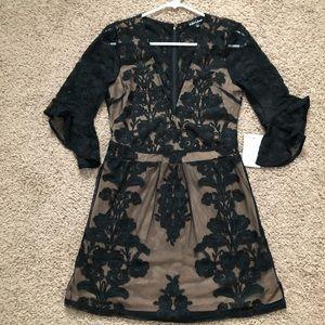 NWT For Love & Lemons Temecula V Neck Mini Dress